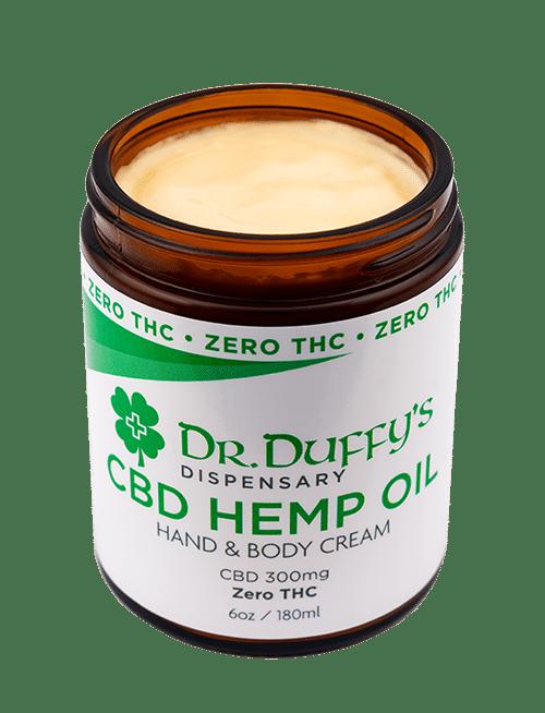 Dr-Duffys-Dispensary-Zero-thc-CBD-Hemp-oil-hand-body-cream-300mg